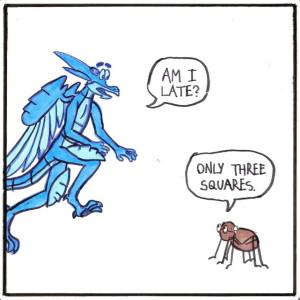 Life as a Lizard cartoon / social animal crackers