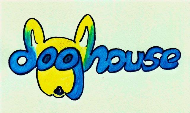 Doghouse cartoon logo social animal crackers